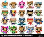Robotars Facebook friends tagging meme