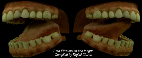Wait. Speaking of tongue, this is a model of Brad Pitt's mouth and tongue model, worked on by a guy to get it right for 9 months! I heard he was pretty popular! Probably not sexy in this context, but just use your imagination and think what Angelina Jolie's been getting! ;-)