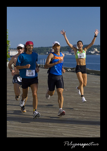 Denise Robson (#115) and Rami Bardeesy (#116), from the NS Lung Run 2007