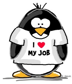 penguin - I love my job