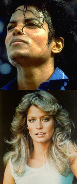 Michael Jackson and Farrah Fawcett