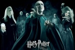 Bellatrix Lestrange, Lucius Malfoy, Voldemort and the Deatheaters