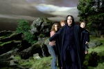 Harry Potter, Hermione Granger, Ron Weasley and Severus Snape