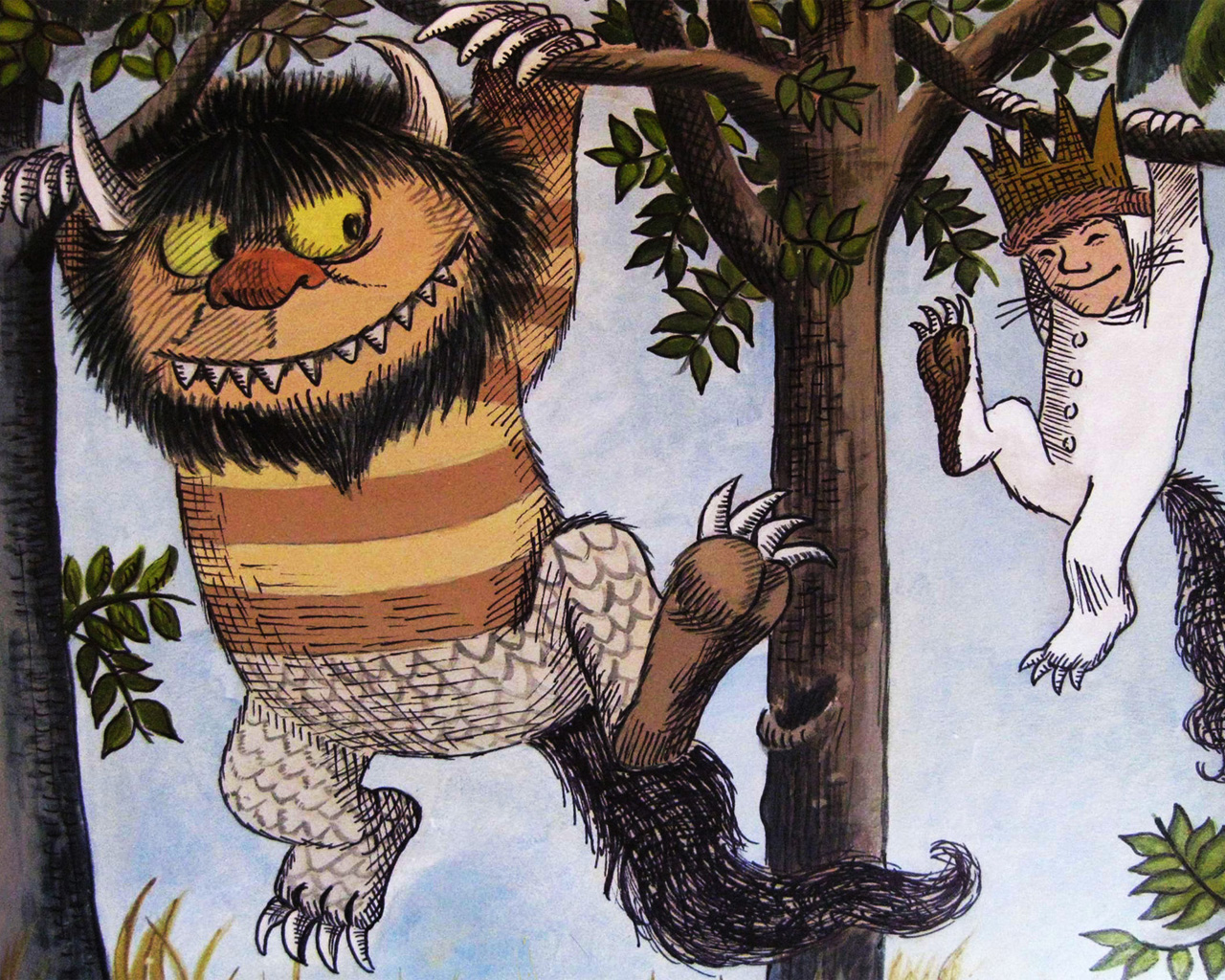 where the wild things are movie and book drawing