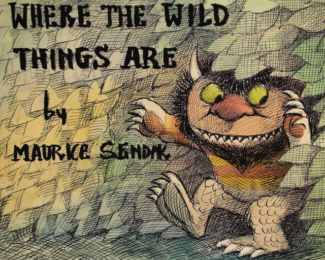 Where the Wild Things Are Movie and Book Drawing Wallpapers  All Sizes    Where The Wild Things Are Book Cover