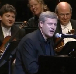 stephen harper singing