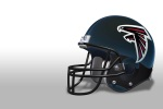 Atlanta Falcon Helmet white 6x4