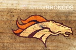 Denver Broncos Wood 6x4