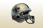 new orleans Saints helmet side 6x4