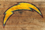 san diego chargers on wood 6x4