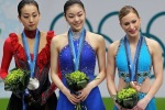 Mao Asado, Yu-Na Kim, Joannie Rochette on podium