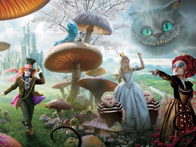 Alice in Wonderland Banner Right