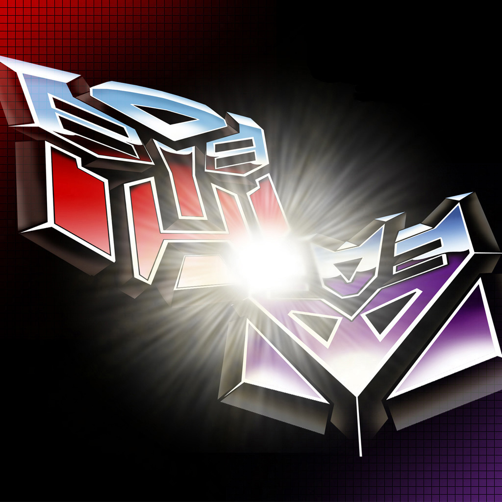 Autobots Decepticons And Transformers Logos Ipad Wallpapers