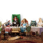 Alice / Mad Hatter / Cheshire Cat / White Rabbit / Dormouse / White Queen