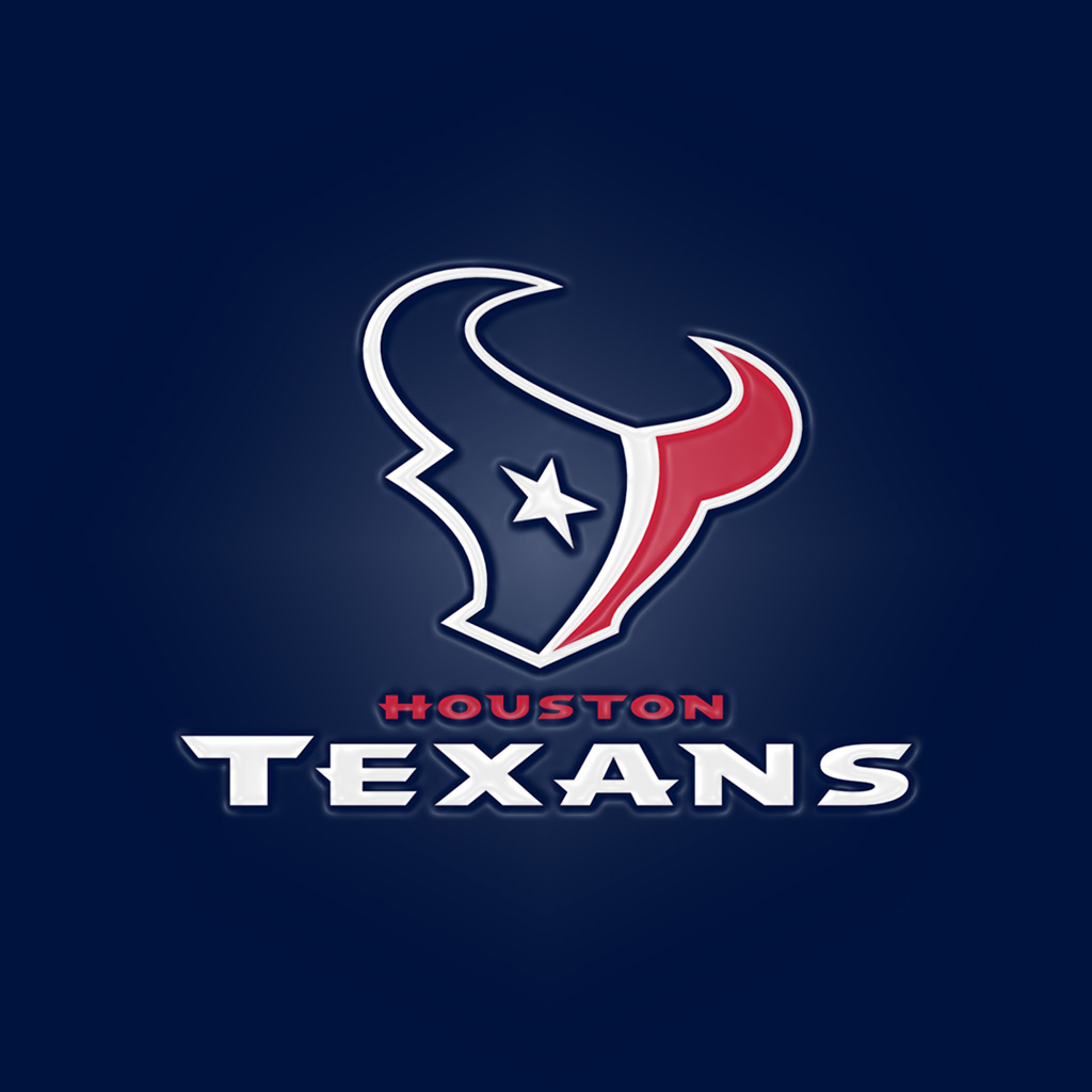 Houston Texans Blue Words IPad 1024Emboss
