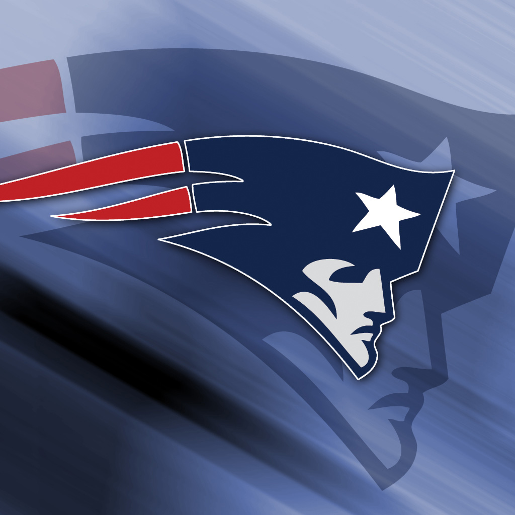Patriots Logo Wallpaper: New England Patriots Steel IPad 1024×1024