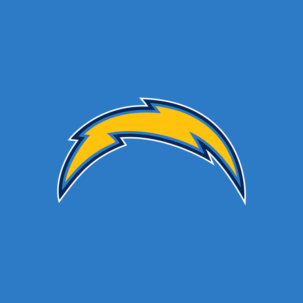 San Diego Chargers Art: San Diego Chargers Light Bolt4 IPad 1024×1024