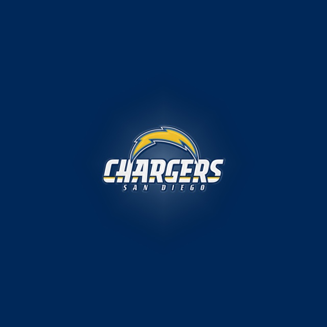San Diego Chargers Art: San Diego Chargers Words IPad 1024Button