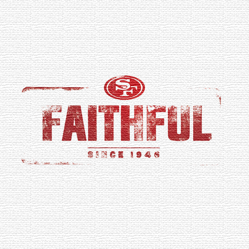 San francisco 49ers team logo ipad wallpapers digital citizen voltagebd Choice Image