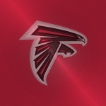 Atlanta Falcons (embossed steel)