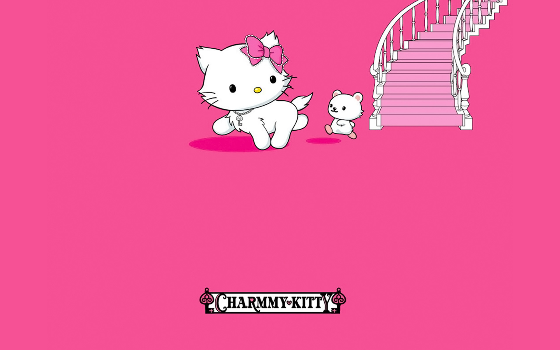 kitty, charmmy, screensaver, hello, singles, stairs, imagens
