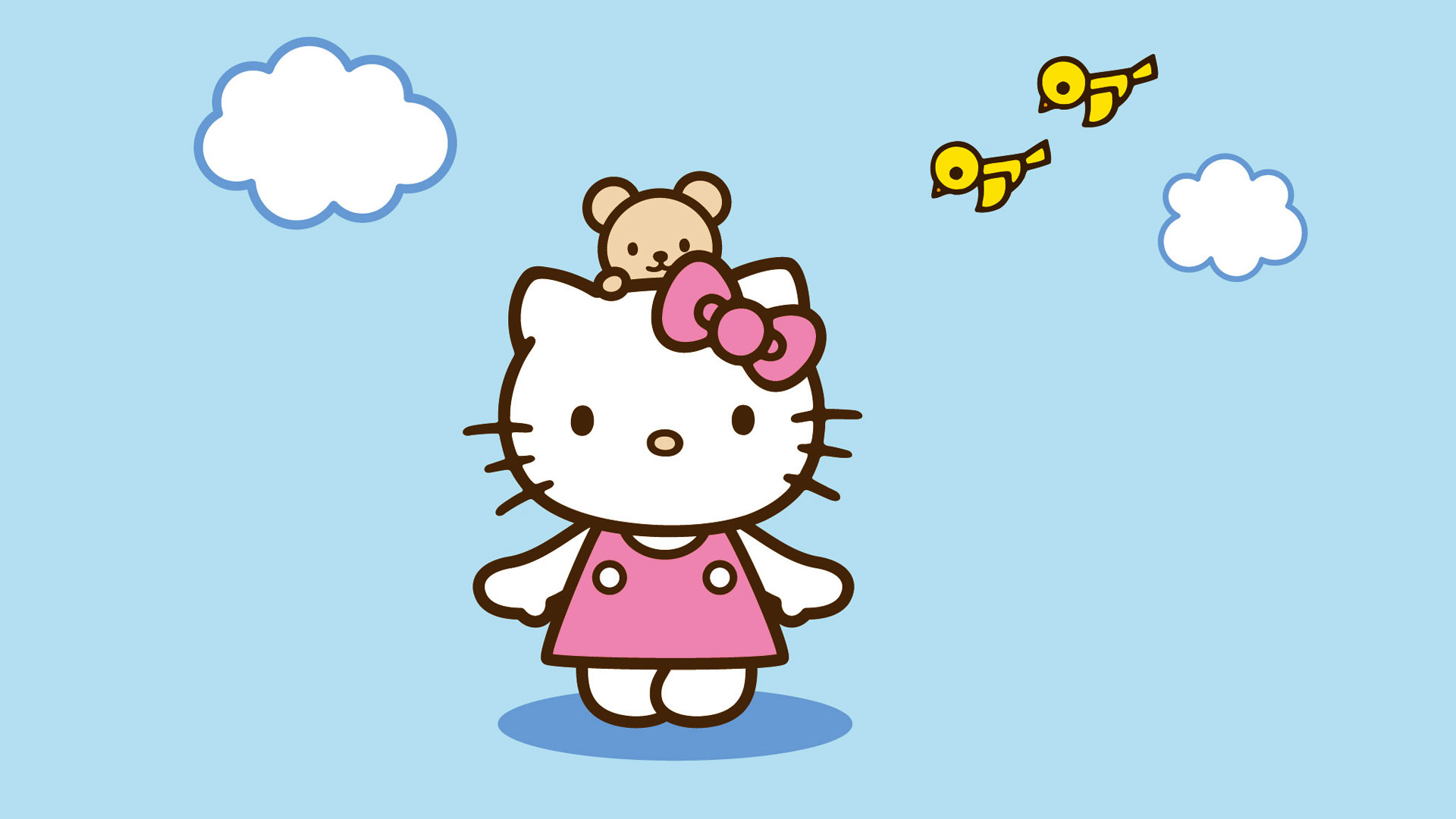 Simple Wallpaper Hello Kitty 1080p - hello-kitty-birds-1920x1080  Trends_47388.jpg