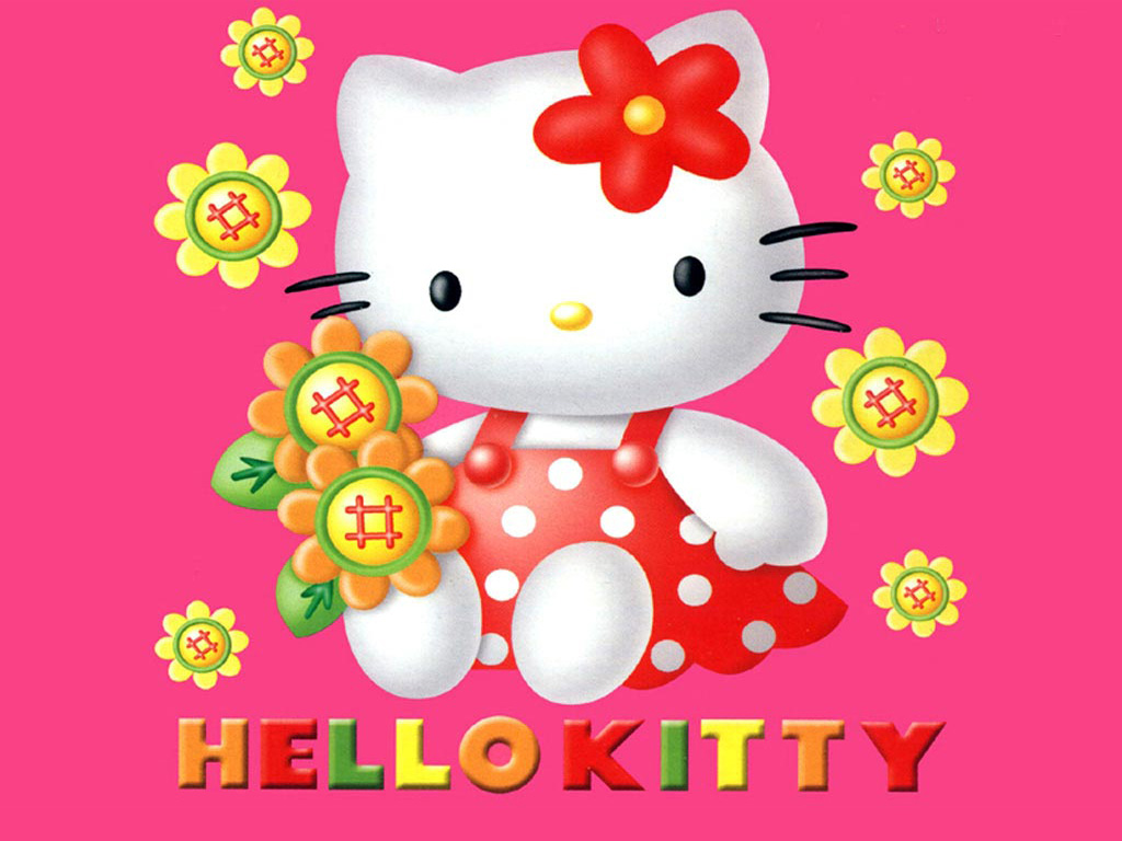 Fantastic Wallpaper Hello Kitty Floral - hello-kitty-flower-buttons  Picture_856276.jpg