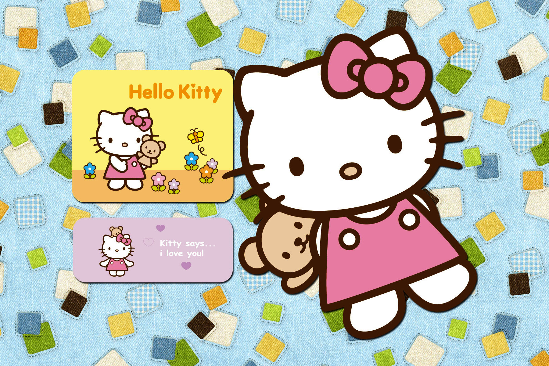 hello kitty and sanrio printable picture postcards 6 x 4. Black Bedroom Furniture Sets. Home Design Ideas