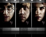 harry potter ron weasley hermione granger hp7 portraits 1280x1024