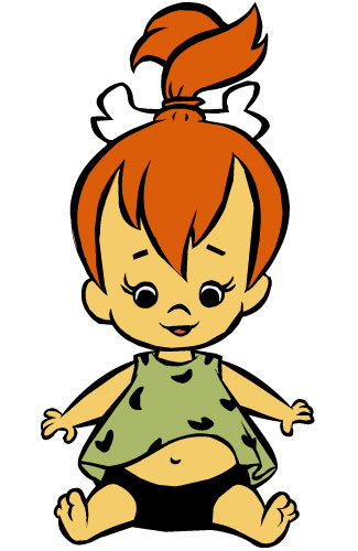 From The Flintstones Pebbles Cartoon Character