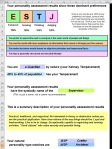Fig 3 - Personality Assessment Results Sample