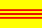 6x4 Printable South Vietnamese Flag (High Resolution)