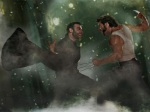 wolverine beast fight 1024x768