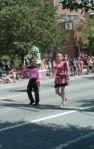 Walking in Pride Parade