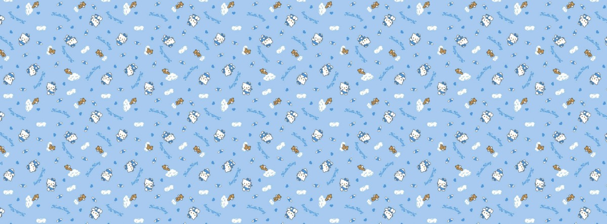 blue background hello kitty facebook timeline cover photo