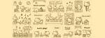 Brown background Hello Kitty Sanrio Facebook Timeline Cover Photo