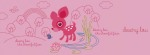Deery Lou pink Facebook Timeline Cover Photo