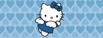 Hello Kitty angel blue hearts Facebook Timeline Cover Photo