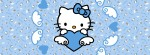 Hello Kitty blue heart Facebook Timeline Cover Photo