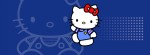 Hello Kitty blue reverse Facebook Timeline Cover Photo