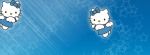 Hello Kitty Blue stars Facebook Timeline Cover Photo