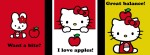 Hello Kitty cathy apples black Facebook Timeline Cover Photo