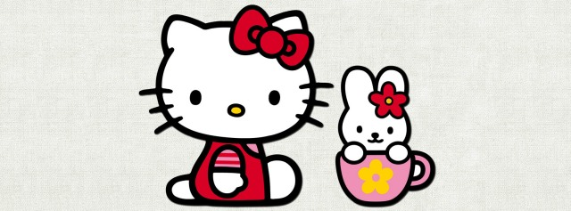 Hello Kitty cathy cup Facebook Timeline Cover Photo