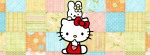 Hello Kitty cathy quilt background Facebook Timeline Cover Photo