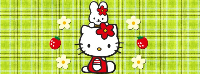 Hello Kitty cathy strawberries Facebook Timeline Cover Photo