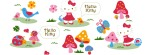 Hello Kitty mushrooms Facebook Timeline Cover Photo
