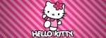 Hello kitty pink diagonals Facebook Timeline Cover Photo