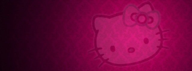 Hello Kitty pink glow Facebook Timeline Cover Photo