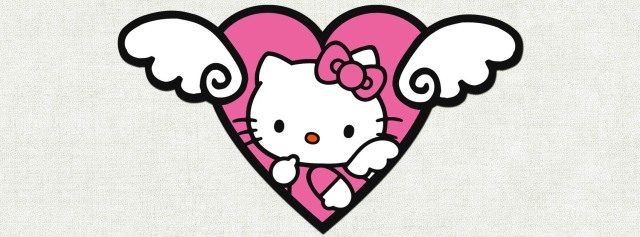 Hello Kitty pink heart Facebook Timeline Cover Photo