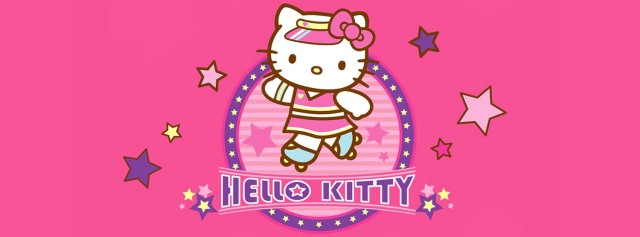 Hello Kitty Roller Girl Facebook Timeline Cover Photo
